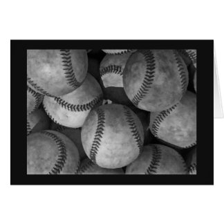 Black, Grey & White Baseball Card