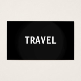 Black Grey White Travel Agent Business Card