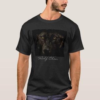 Black Grey Wolf Face - WOLF CLAN Wildlife Art T-Shirt