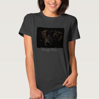 Black Grey Wolf Face - WOLF CLAN Wildlife Art Tshirt