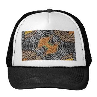 Black Grey Zebra Abstract Trucker Hat