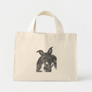 Black Greyhound Art Bags