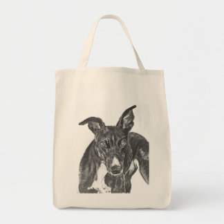 Black Greyhound Art Bag
