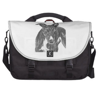 Black Greyhound Art Computer Bag