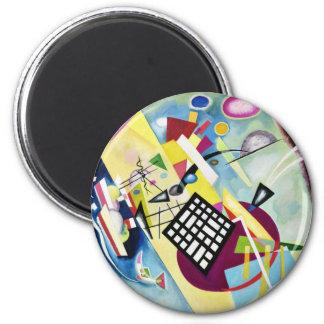Black Grid 2 Inch Round Magnet