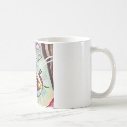 Black Grid Classic White Coffee Mug