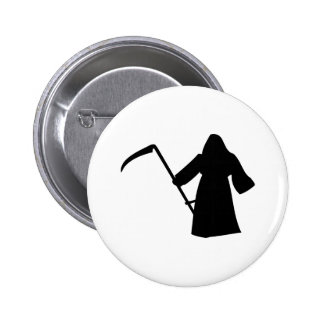 black grim reaper death icon pins