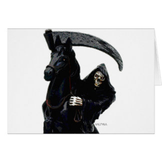 Black Grim Reaper Horseman by Valpyra Card