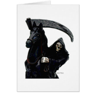 Black Grim Reaper Horseman by Valpyra Card
