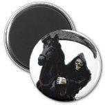 Black Grim Reaper Horseman by Valpyra Magnets