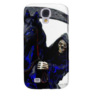 Black Grim Reaper Horseman w Neon by Valpyra Galaxy S4 Cases