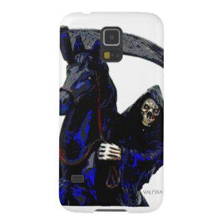Black Grim Reaper Horseman w Neon by Valpyra Galaxy S5 Cover
