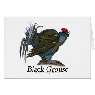 Black Grouse bird, tony fernandes Card