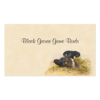 Black grouse game birds business card