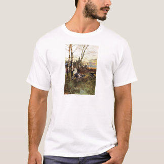 Black Grouse Mating Display T-Shirt