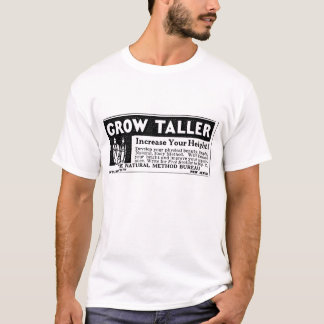 "Black ""GROW TALLER"" T-shirt"