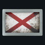 """Black Grunge Alabama State Flag Belt Buckle<br><div class=""""desc"""">Black Grunge Alabama State Flag. Feel free to modify the design according to your own preferences. You may change the design location, orientation, background colors and size. Also, you may add your own text, or slogan set its font, location and size, all in order to create the ultimate personal gift...</div>"""
