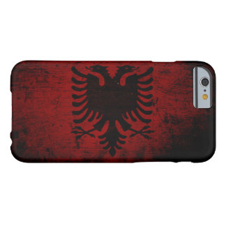 Black Grunge Albania Flag Barely There iPhone 6 Case