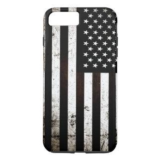 Black Grunge American Flag 2 iPhone 7 Plus Case