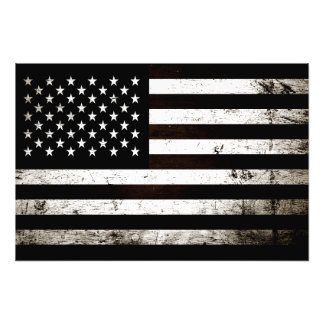 Black Grunge American Flag 2 Photo