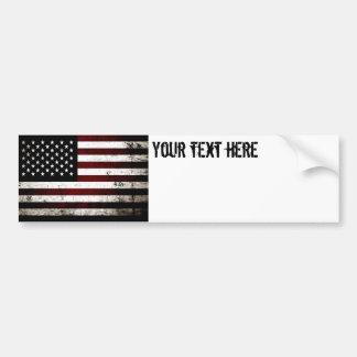 Black Grunge American Flag Bumper Sticker