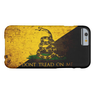 Black Grunge Anarcho Gadsden Flag Barely There iPhone 6 Case
