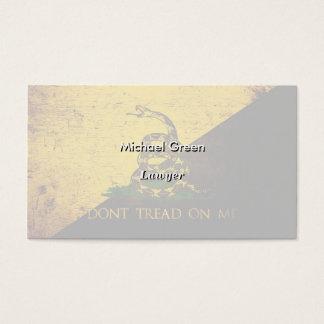 Black Grunge Anarcho Gadsden Flag Business Card