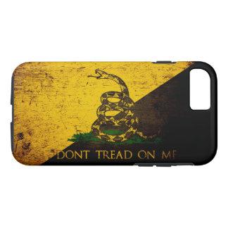 Black Grunge Anarcho Gadsden Flag iPhone 7 Case