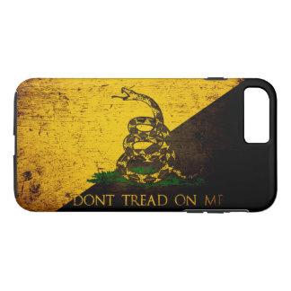 Black Grunge Anarcho Gadsden Flag iPhone 7 Plus Case