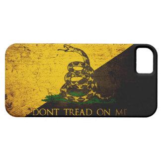 Black Grunge Anarcho Gadsden Flag iPhone SE/5/5s Case