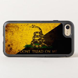 Black Grunge Anarcho Gadsden Flag OtterBox Symmetry iPhone 7 Case