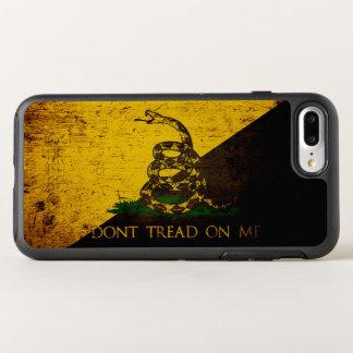 Black Grunge Anarcho Gadsden Flag OtterBox Symmetry iPhone 7 Plus Case