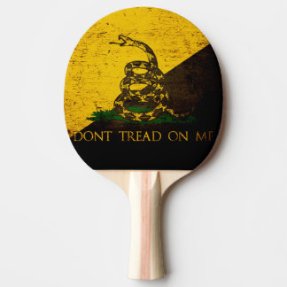 Black Grunge Anarcho Gadsden Flag Ping-Pong Paddle