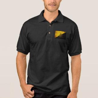 Black Grunge Anarcho Gadsden Flag Polo Shirt