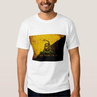 Black Grunge Anarcho Gadsden Flag T-shirt