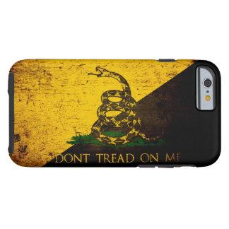 Black Grunge Anarcho Gadsden Flag Tough iPhone 6 Case