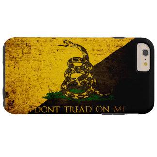 Black Grunge Anarcho Gadsden Flag Tough iPhone 6 Plus Case