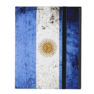 Black Grunge Argentina Flag iPad Case