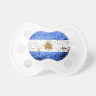 Black Grunge Argentina Flag Pacifier