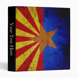 Black Grunge Arizona State Flag Binder