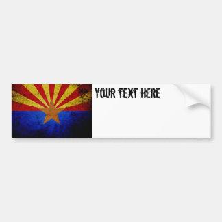 Black Grunge Arizona State Flag Car Bumper Sticker