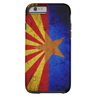 Black Grunge Arizona State Flag Tough iPhone 6 Case