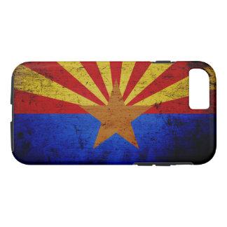 Black Grunge Arizona State Flag iPhone 7 Case