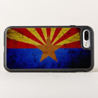 Black Grunge Arizona State Flag OtterBox Symmetry iPhone 7 Plus Case