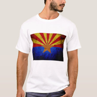 Black Grunge Arizona State Flag T-Shirt