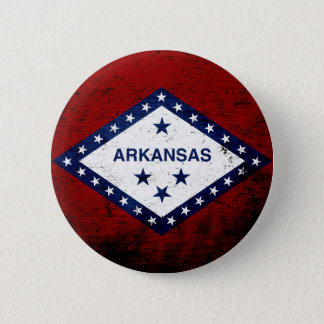 Black Grunge Arkansas State Flag Button
