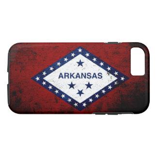 Black Grunge Arkansas State Flag iPhone 7 Case
