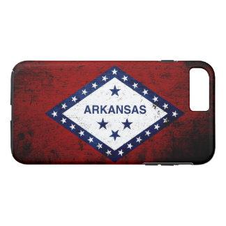 Black Grunge Arkansas State Flag iPhone 7 Plus Case