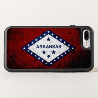 Black Grunge Arkansas State Flag OtterBox Symmetry iPhone 7 Plus Case