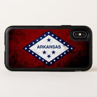 Black Grunge Arkansas State Flag OtterBox Symmetry iPhone X Case